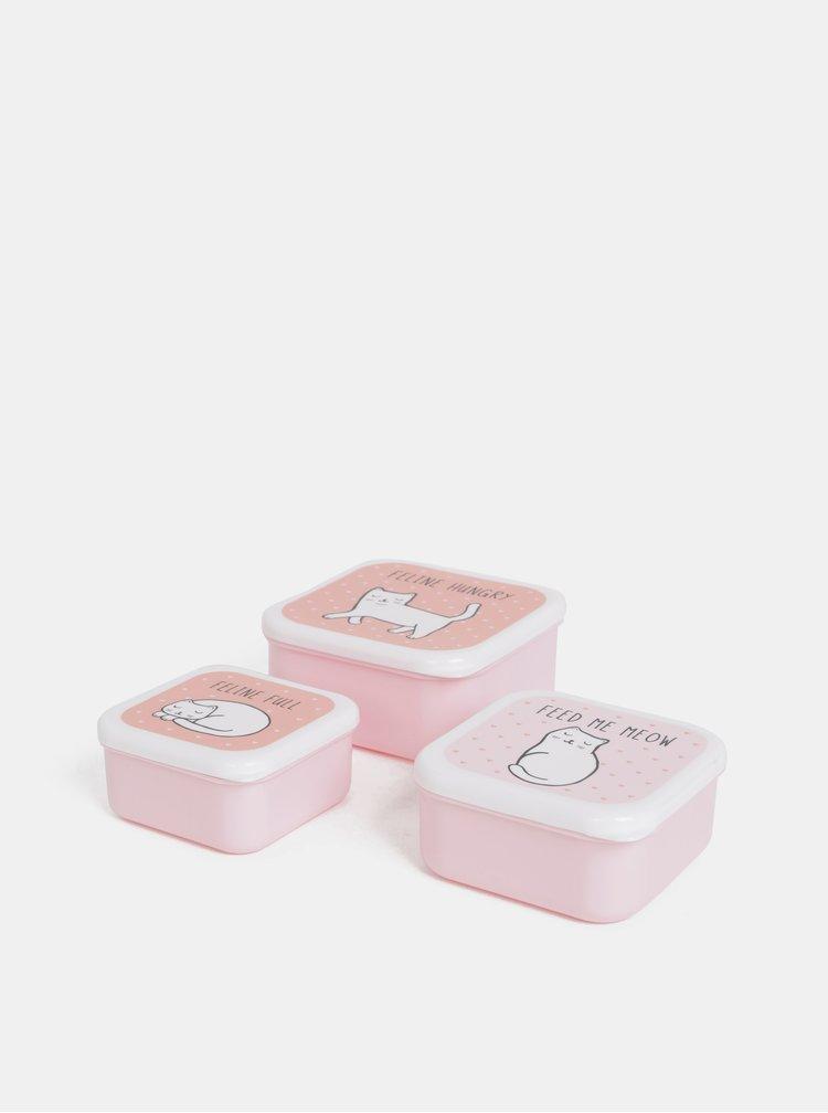 Sada troch rúžových krabičiek Sass & Belle