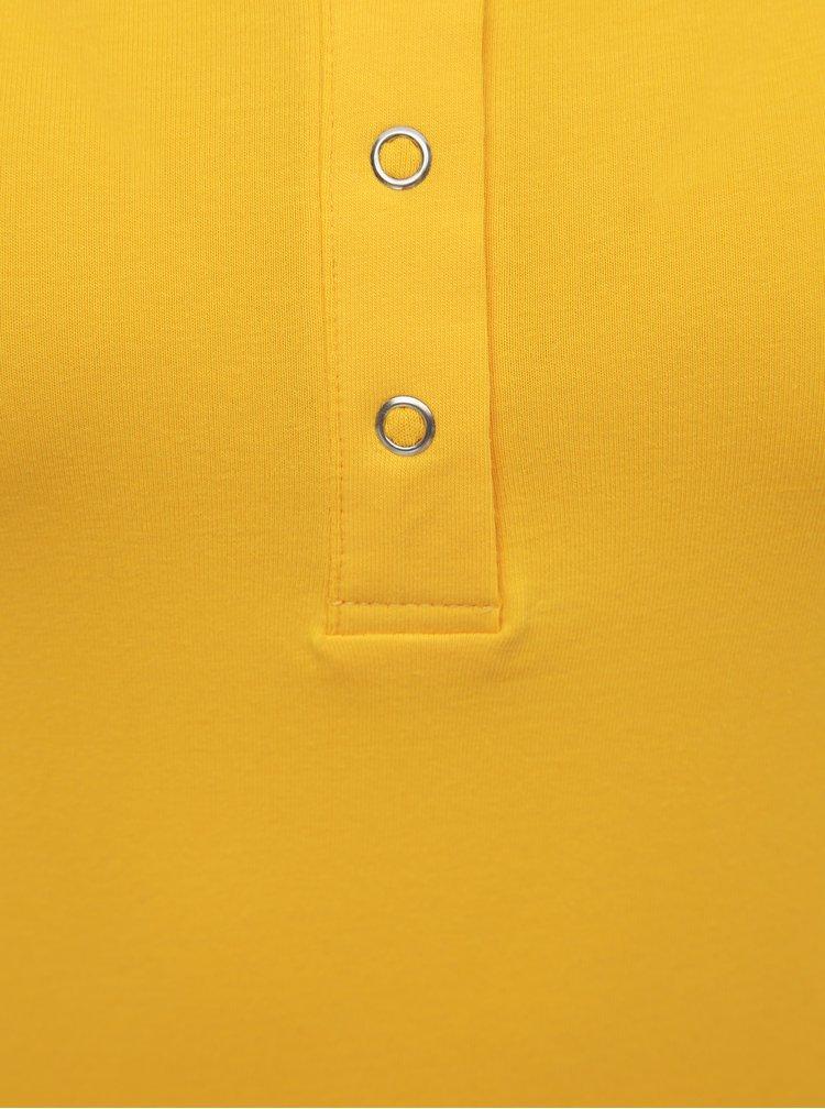 Žluté basic tílko s patentkami ONLY Live