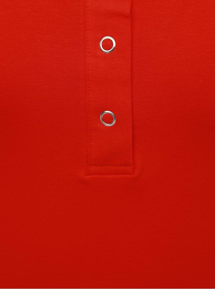 Červené basic tílko s patentkami ONLY Live
