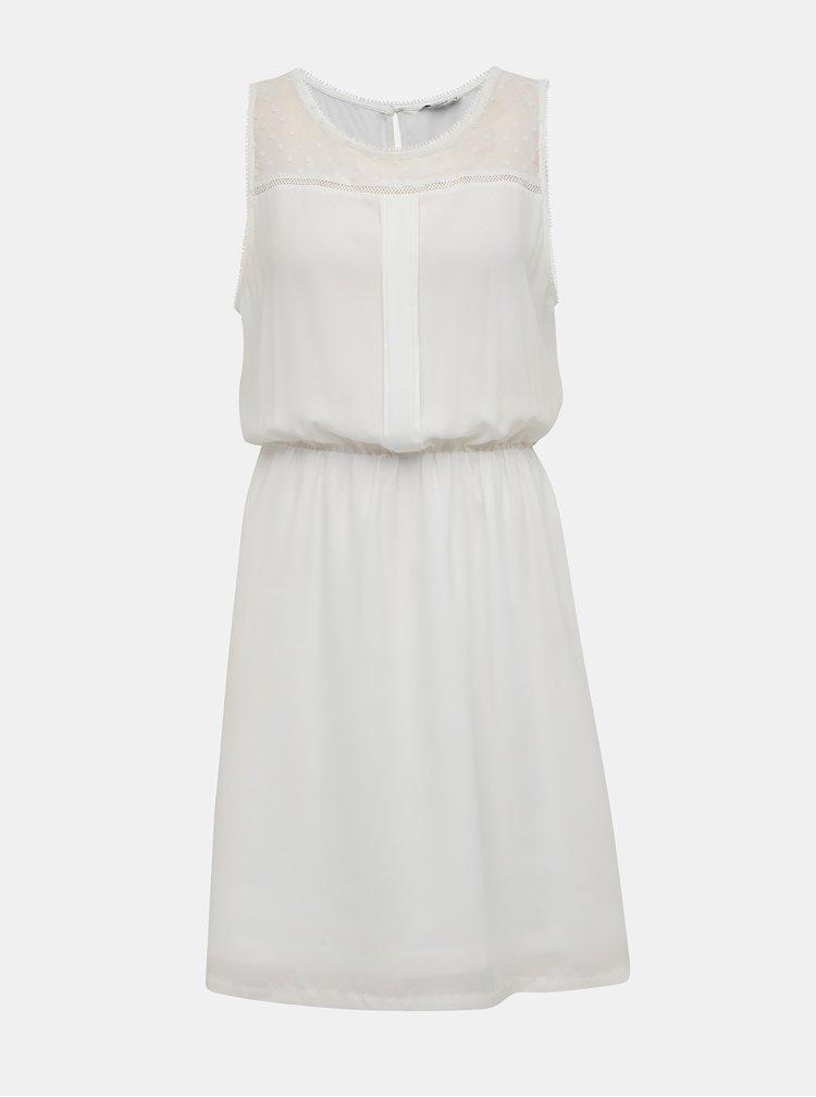 Biele šaty s ozdobnými detailmi ONLY Cherry