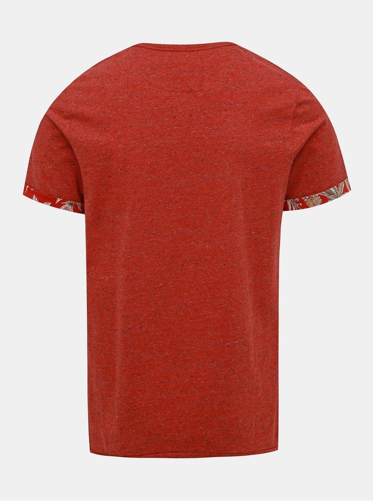 Červené žíhané tričko Jack & Jones Slamuel