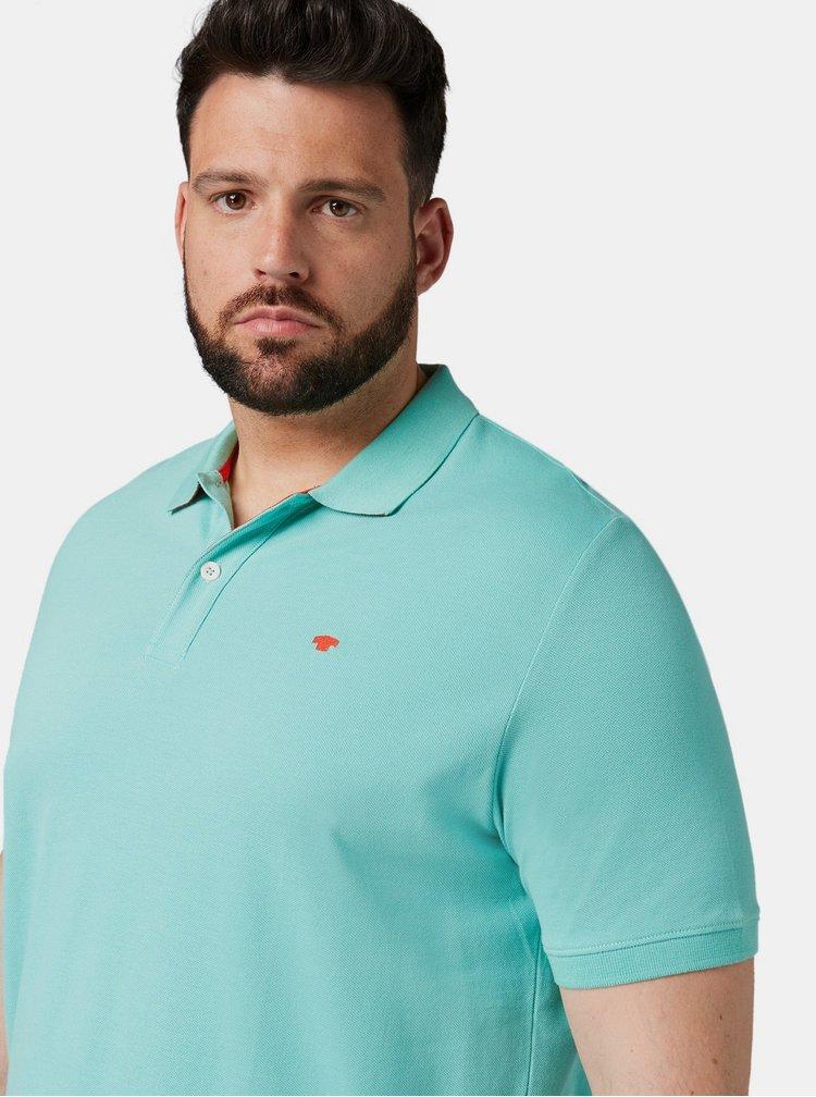 Tyrkysové pánské basic polo tričko Tom Tailor