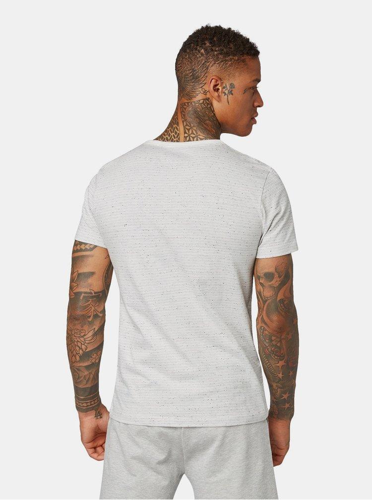 Šedo-krémové pánské vzorované tričko Tom Tailor Denim