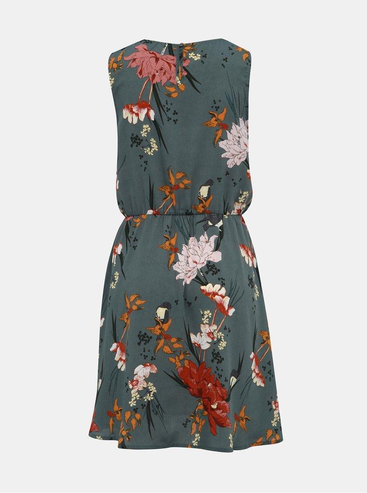 Zelené kvetovavé šaty ONLY Eleonora