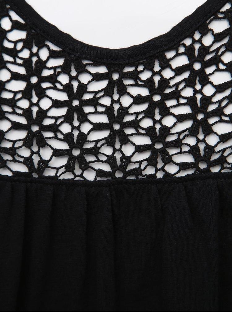 Černý top s madeirou Jacqueline de Yong Celina