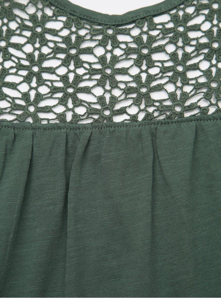 Zelený top s madeirou Jacqueline de Yong Celina