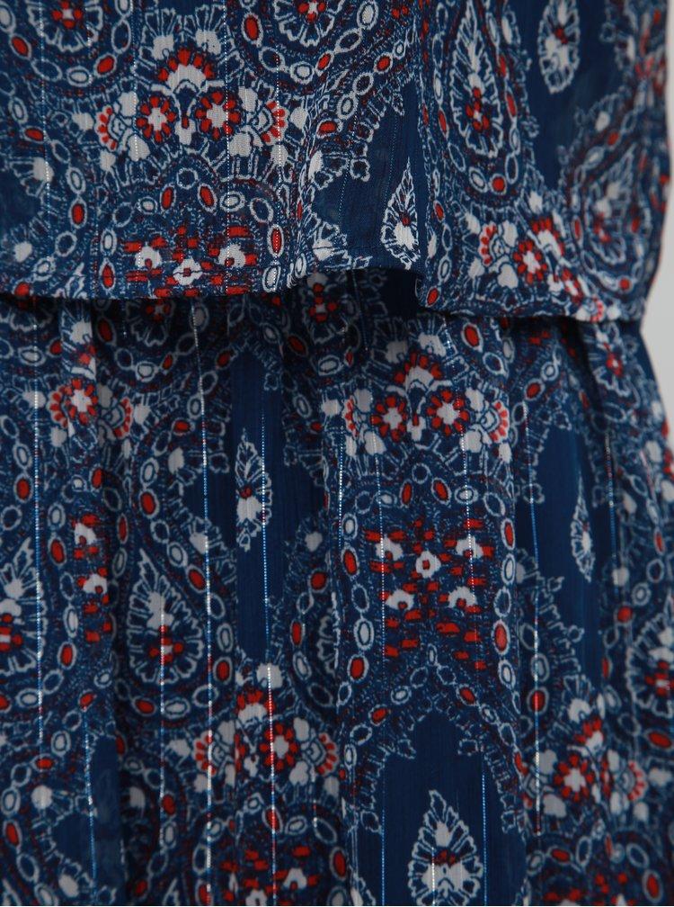 Tmavomodré vzorované šaty ONLY Nina