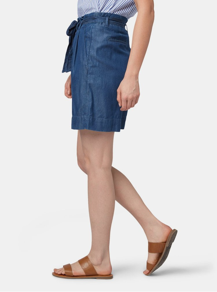 Tmavě modré dámské džínové kraťasy Tom Tailor