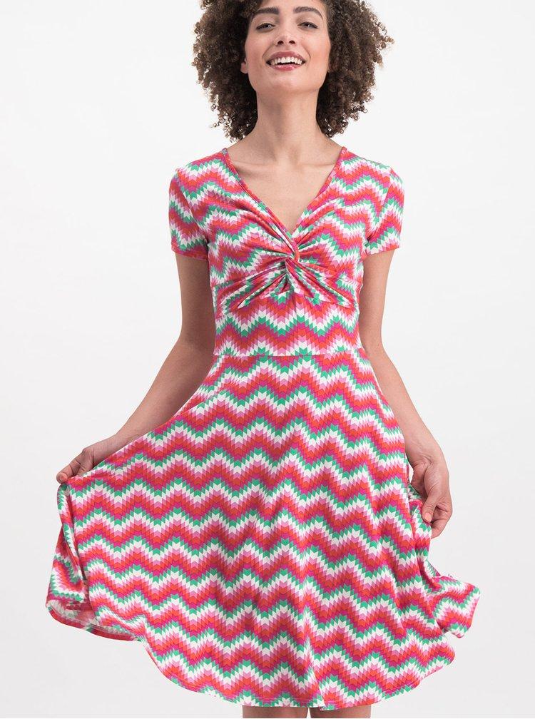 Růžové vzorované šaty Blutsgeschwister