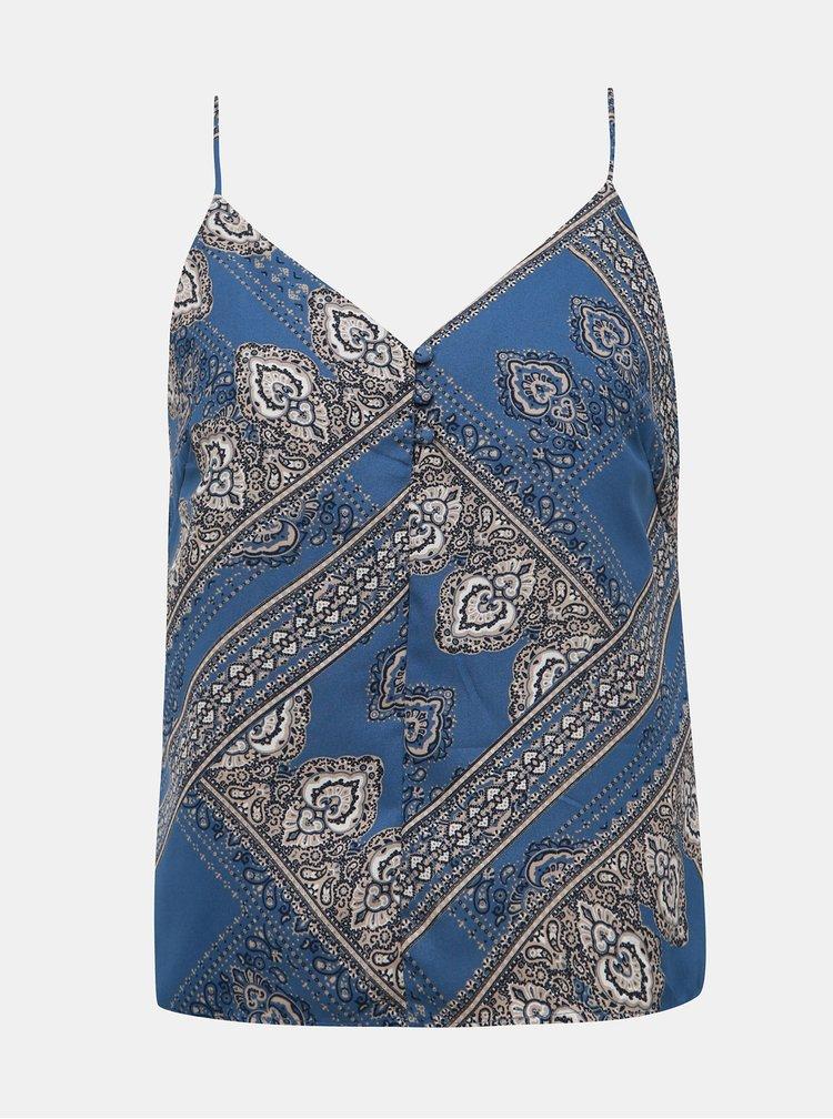 Modrý vzorovaný top ONLY Diana