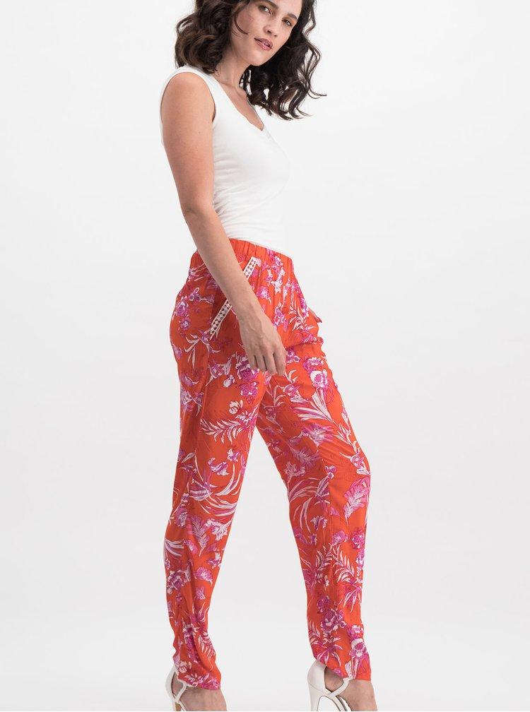 Oranžové květované kalhoty Blutsgeschwister