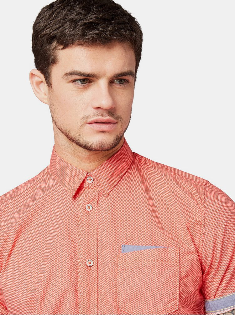 Červená pánská vzorovaná košile Tom Tailor