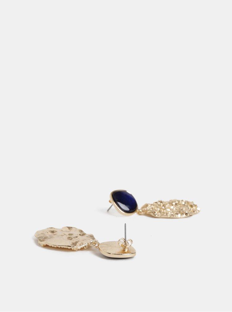 Náušnice v modro-zlatej farbe ONLY Daisi