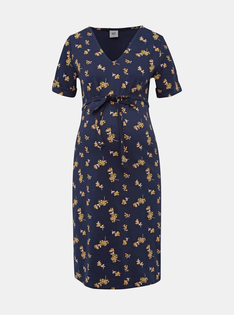 Tmavomodré tehotenské šaty Mama.licious Leva