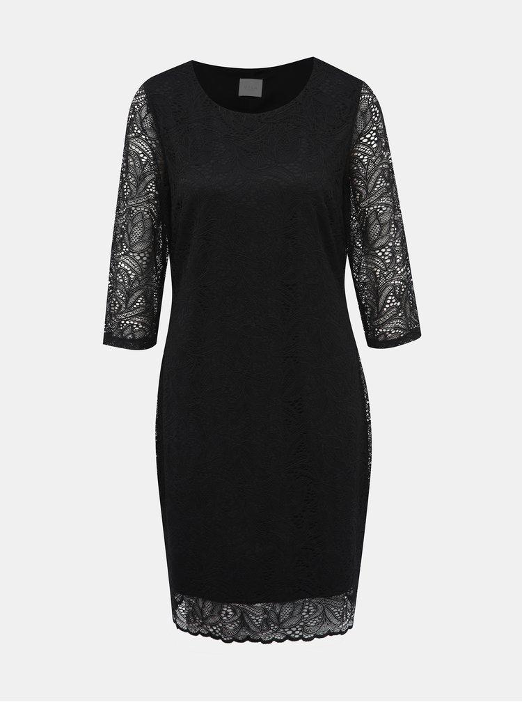 Černé krajkové šaty VILA Blond