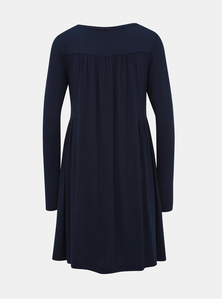 Tmavomodré voľné šaty VILA Sunsita