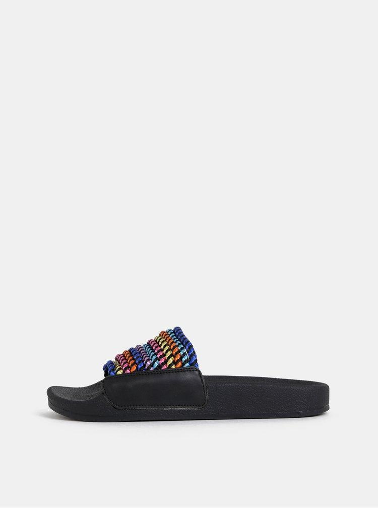 Modro-černé pantofle Tamaris