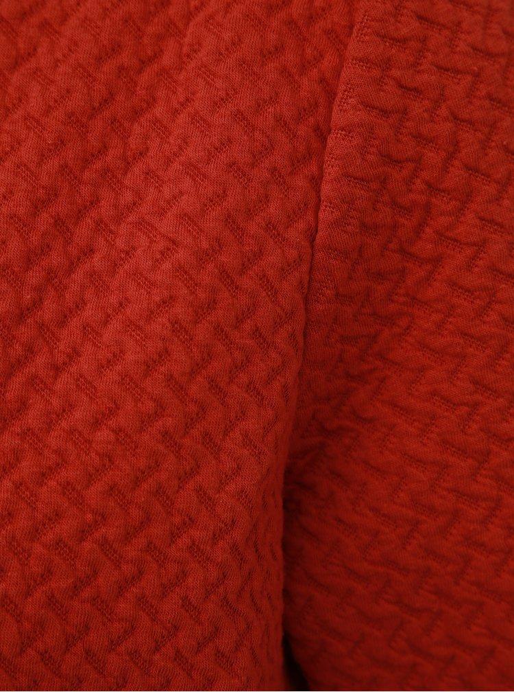 Cihlový lehký kabát VILA Naja