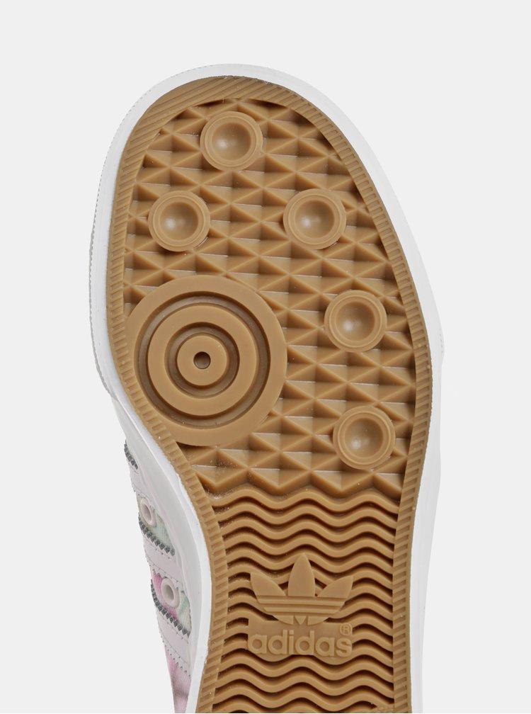 Krémové dámske kvetované tenisky adidas Originals Nizza