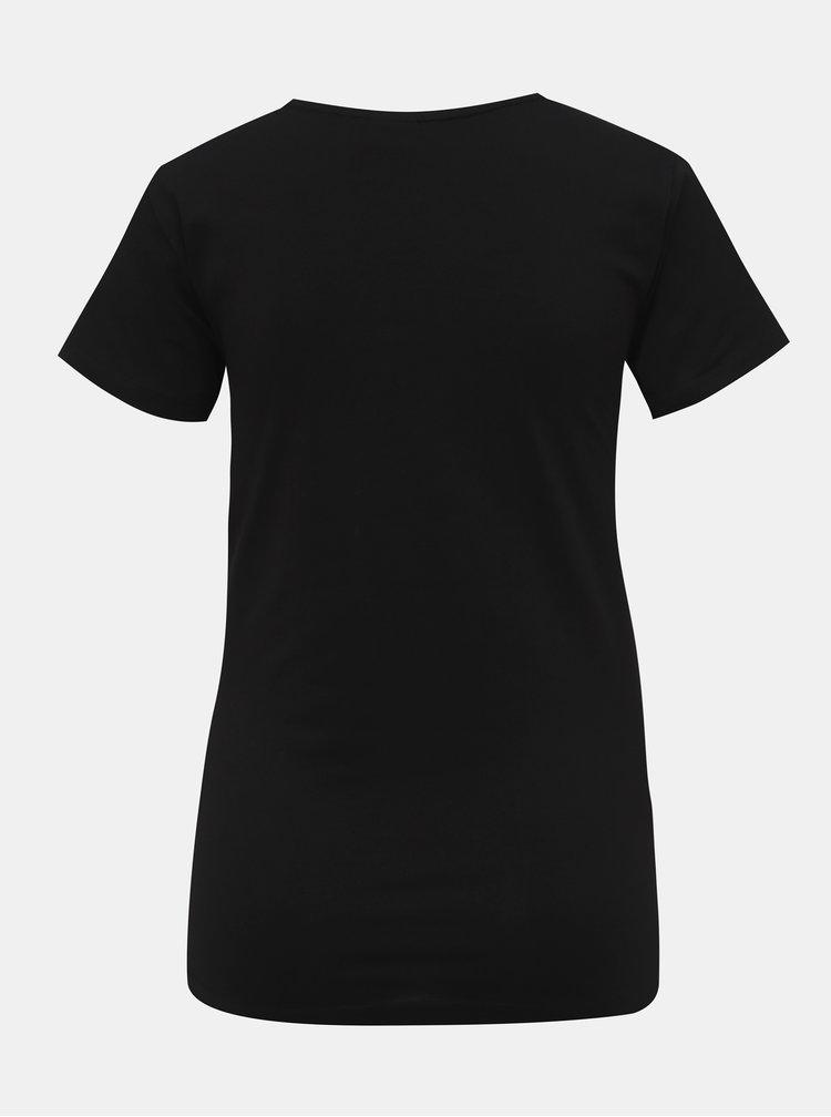 Černé basic tričko Jacqueline de Yong Ava