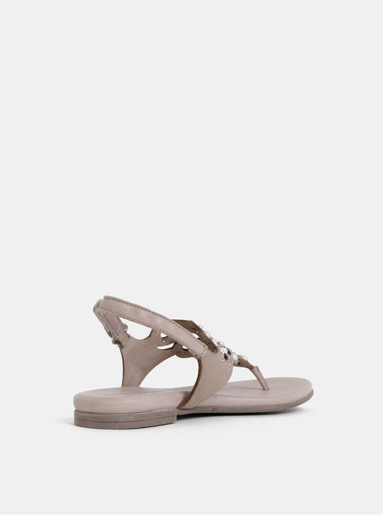 Béžové sandále s kamienkami Tamaris