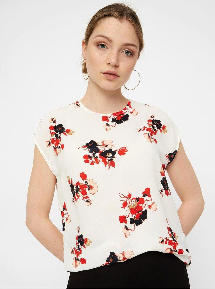 Bluza alba florala lejera VERO MODA Kaya