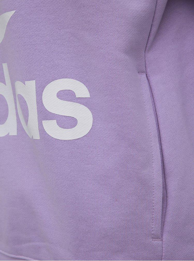 Fialová dámska mikina adidas Originals Trefoil