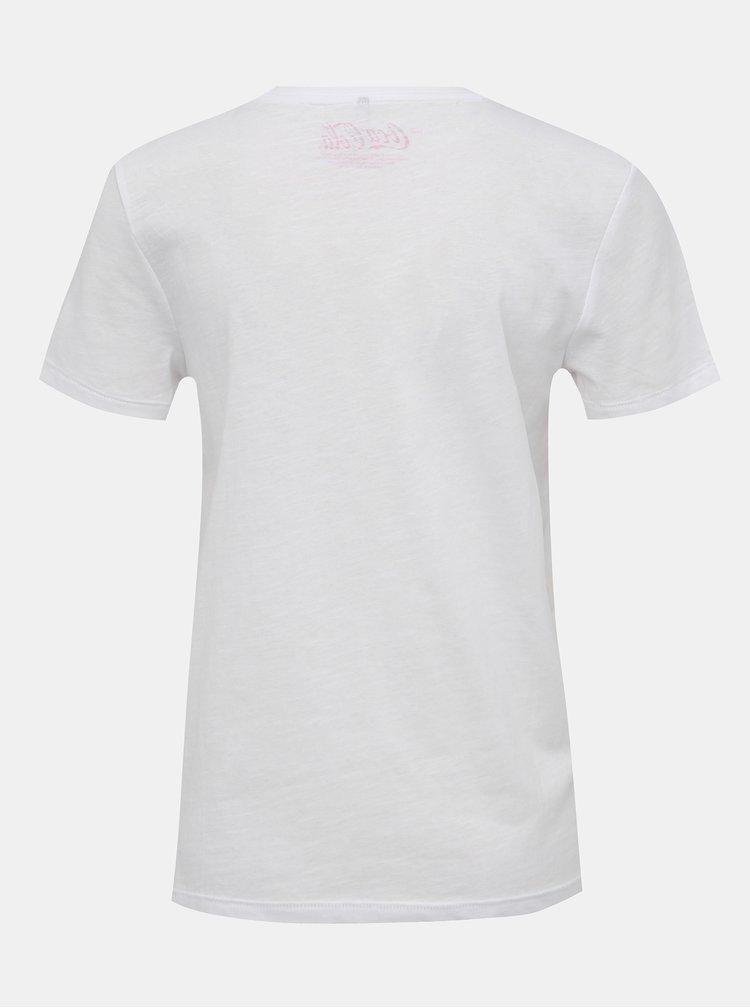 Biele tričko s potlačou ONLY Coke