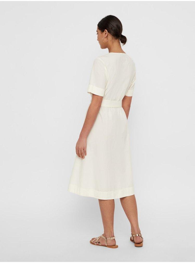Biele šaty s opaskom VERO MODA Kammi