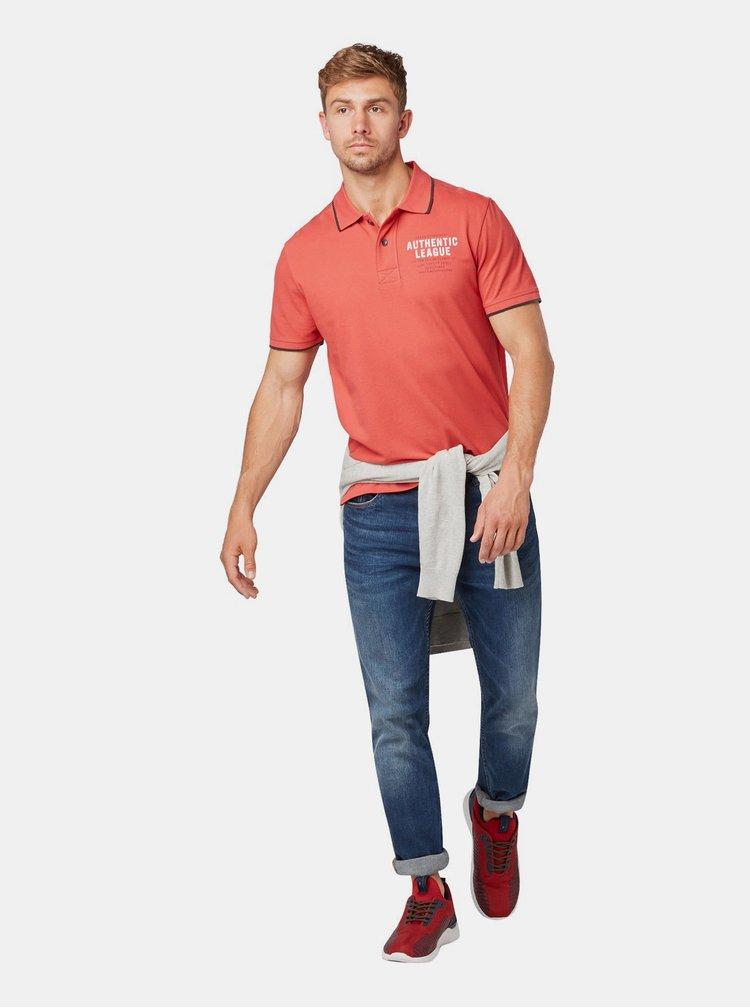 Červené pánské polo tričko Tom Tailor