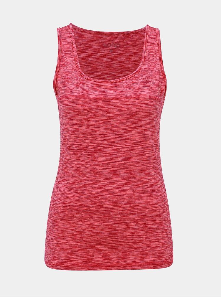 Růžové dámské žíhané sportovní tílko LOAP Mally