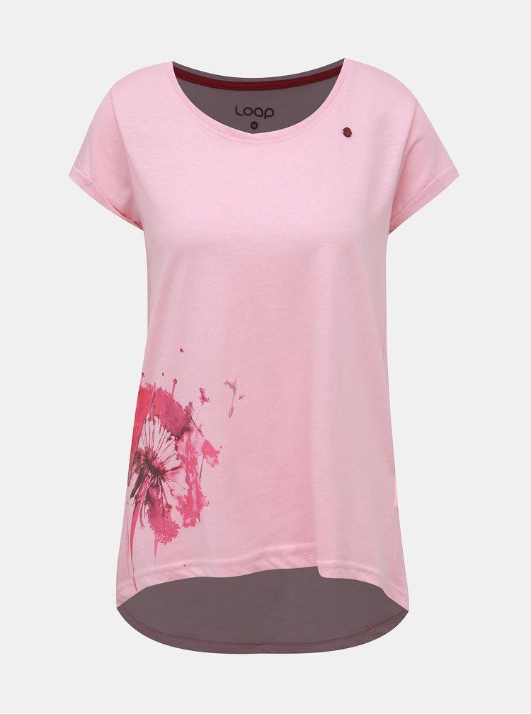 Růžové dámské tričko LOAP Aliena