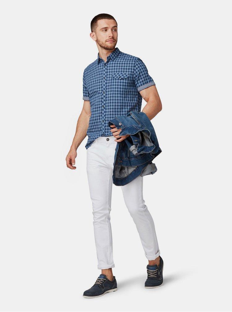 Modrá pánská kostkovaná regular fit košile Tom Tailor