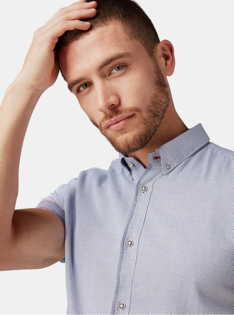 Světle šedá vzorovaná košile Tom Tailor