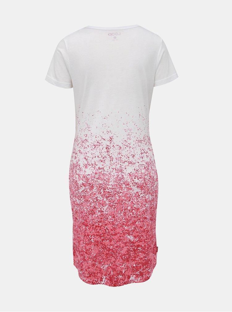 Rúžovo-biele šaty LOAP Assi