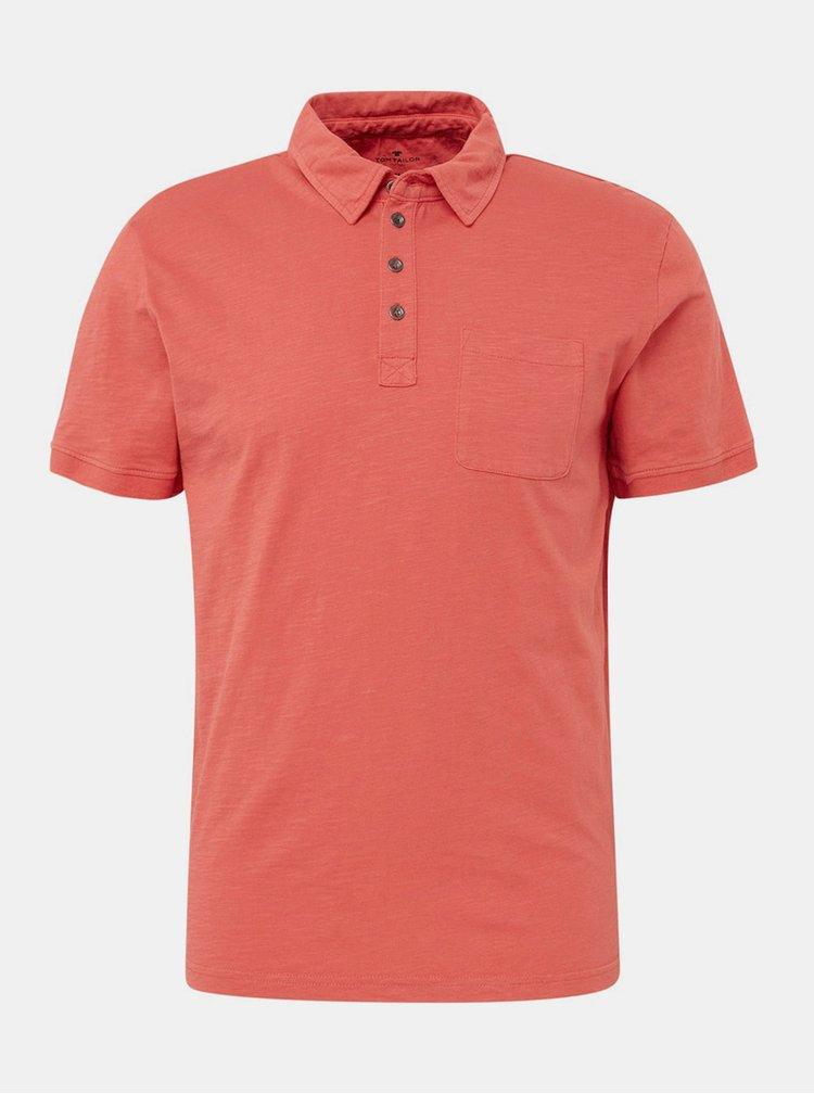 Červené pánské basic polo tričko s kapsou Tom Tailor
