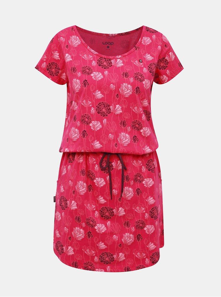 Rúžové kvetované šaty LOAP Barkley