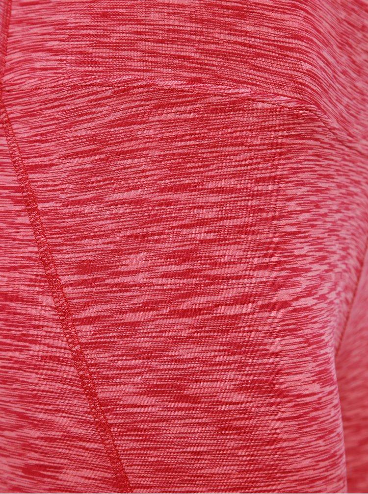 Rúžové dámske žíhané 3/4 legíny LOAP Marsia