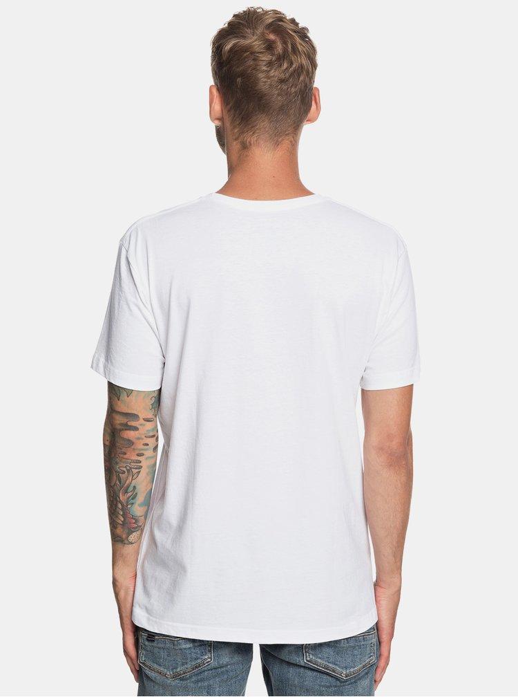 Bílé regular fit tričko Quiksilver
