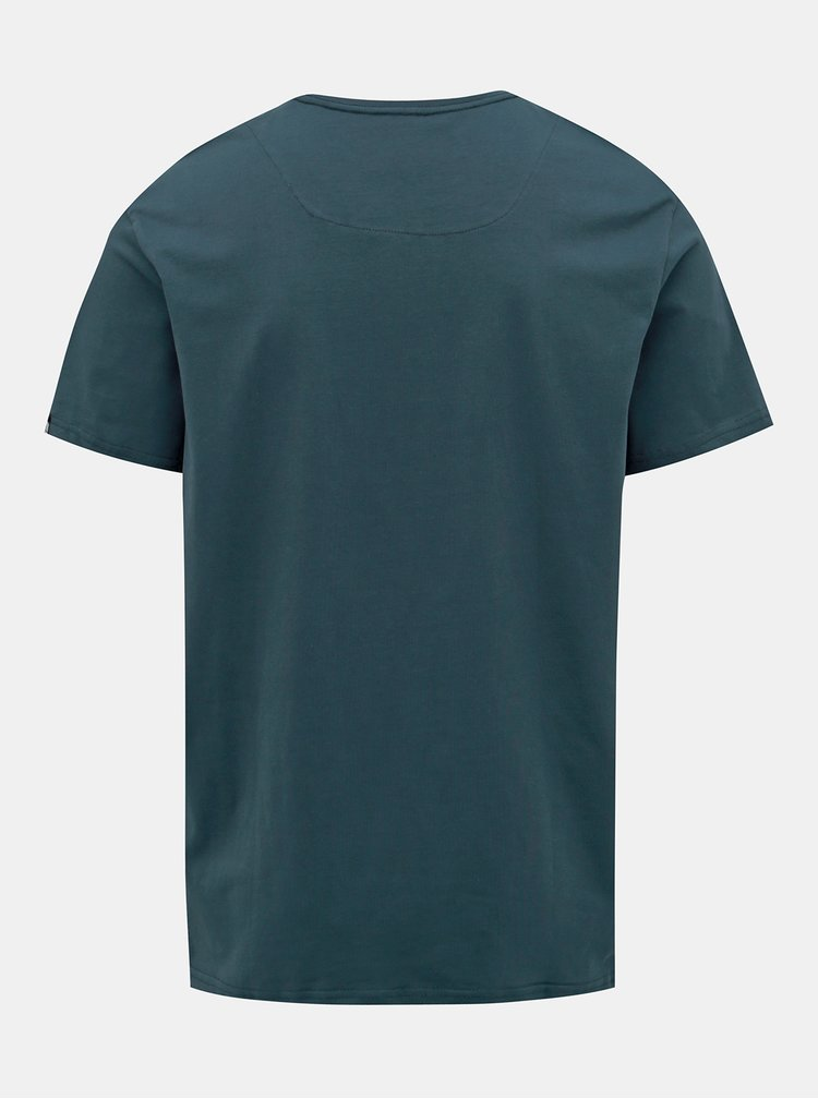 Tmavě modré pánské tričko s potiskem LOAP Anio