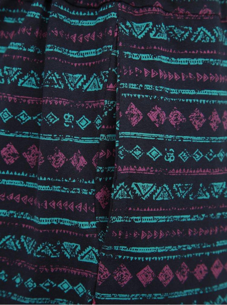 Tmavě modré vzorované šaty LOAP Bereta