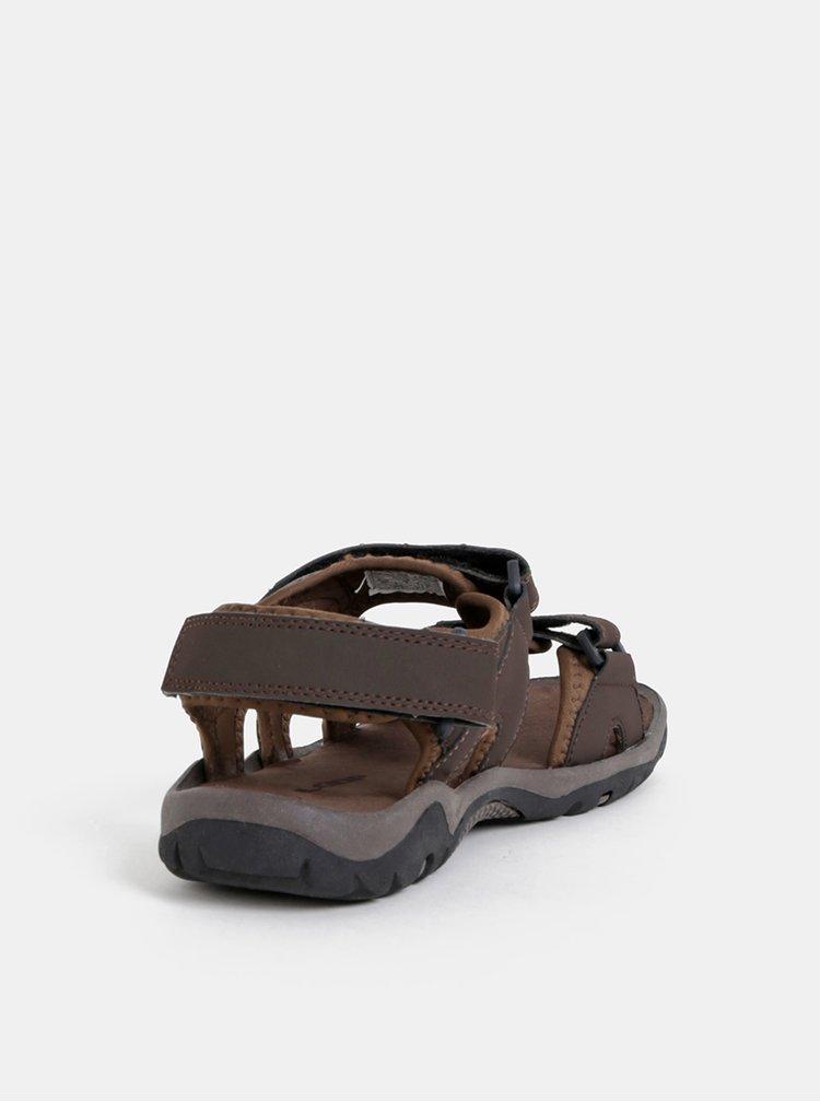 Tmavě hnědé pánské sandály LOAP Gedi