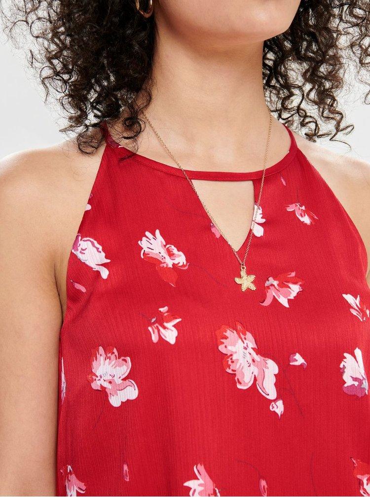 Červené kvetované šaty ONLY Giza