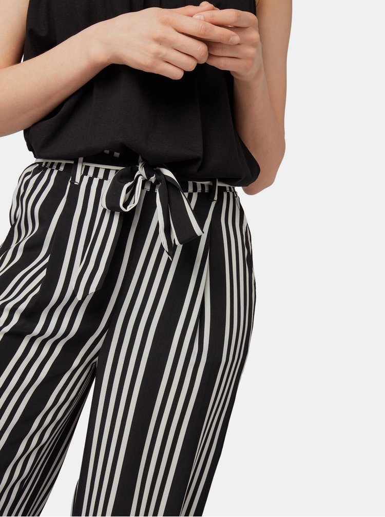 Bílo-černé dámské pruhované culottes Tom Tailor
