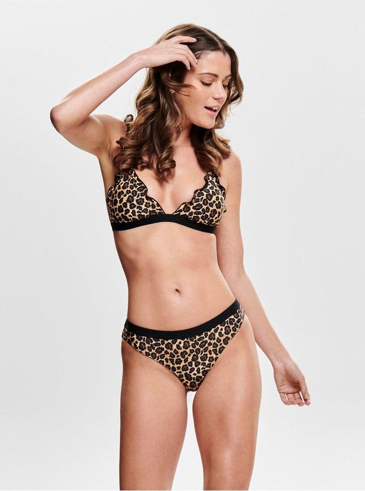 Sutien de baie maro cu motiv leopard ONLY Ibiza