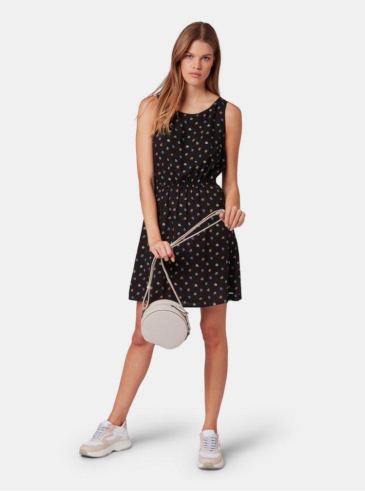 Černé vzorované šaty Tom Tailor Denim