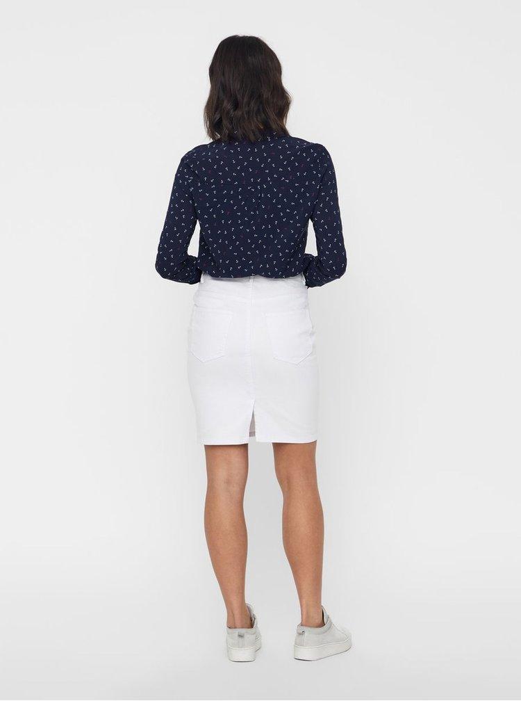 Bílá džínová pouzdrová sukně VERO MODA Hot Nine