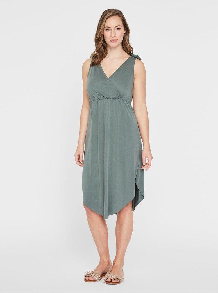 Zelené těhotenské/kojicí šaty Mama.licious