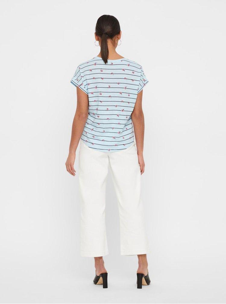 Tricou albastru deschis cu model VERO MODA Sally Willow