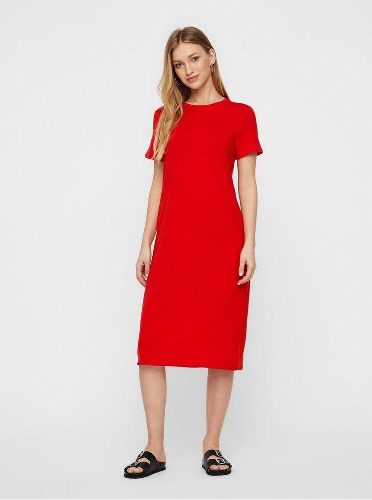 Červené basic šaty AWARE by VERO MODA Gava